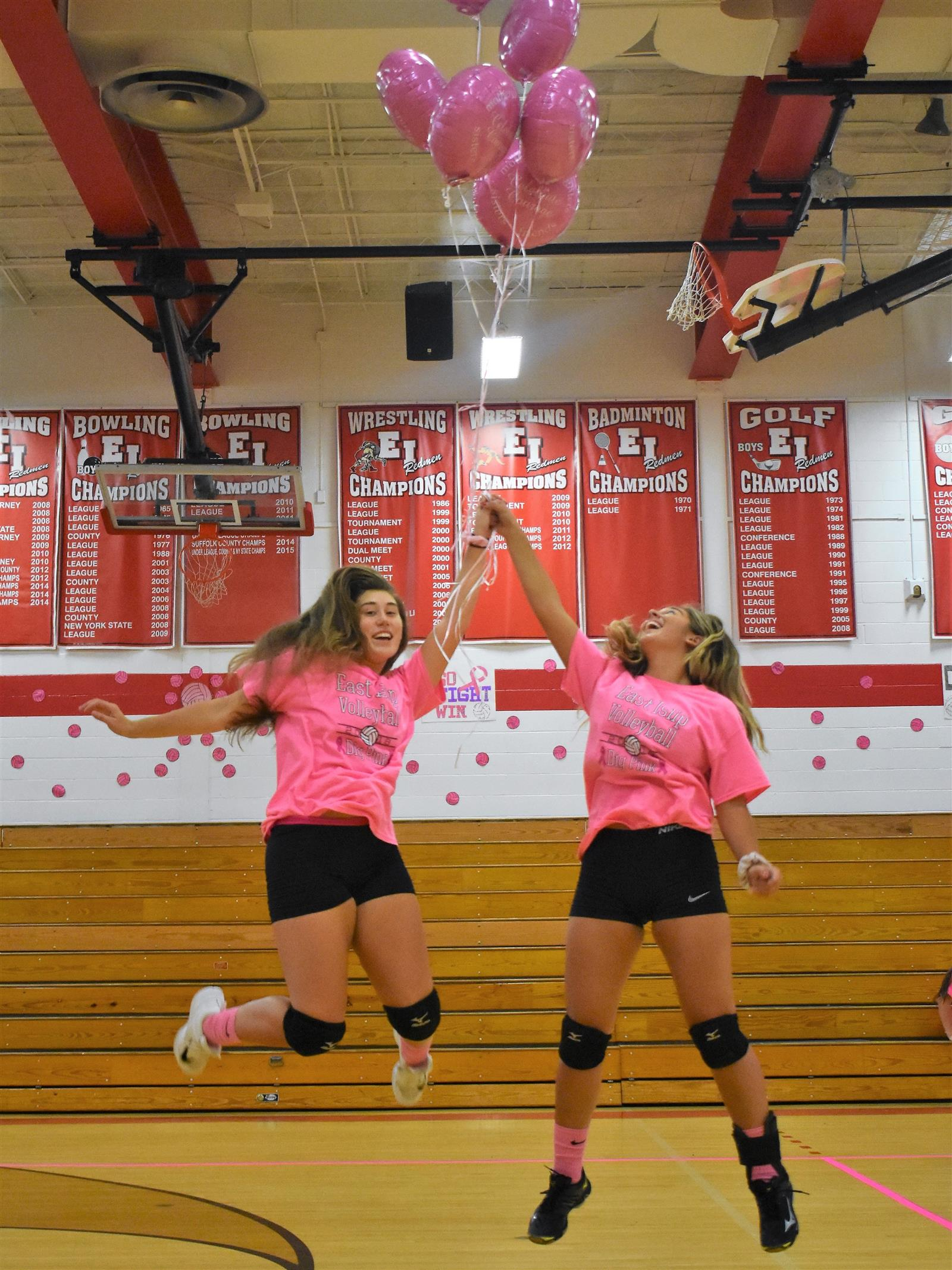 Volleyball Teams Unite for Dig Pink Default