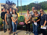 Middle School Ddedicates Becvar/McDermott Memorial Garden
