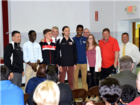 Board Honors High School Track Stars