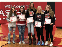 Fall Athletes Honored at High School