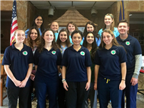 High School Med Students Ride on Local Ambulance